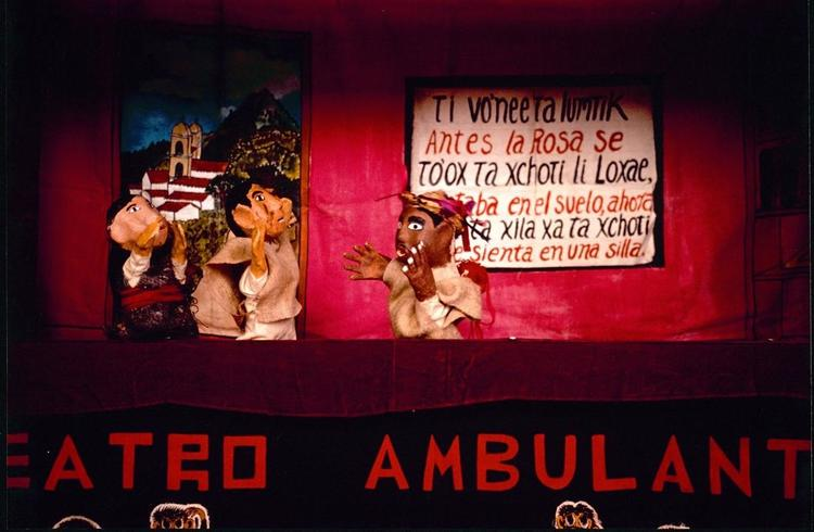 "A puppet show at the ""Teatro Ambulante."" / Macduff Everton / Princeton University Library Collection of Western Americana Photographs (WC064). Manuscripts Division, Department of Rare Books and Special Collections, Princeton University Library."